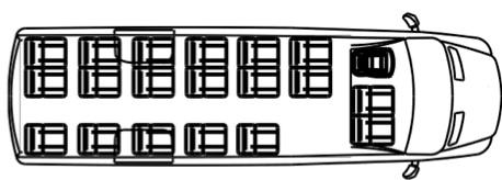 Автобус (19+8+1) 22370C на базе шасси Volkswagen Crafter 50 GP (Фольксваген Крафтер ГП 50)