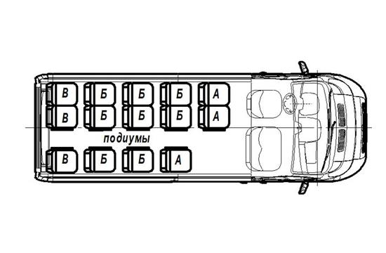 """Автобус (16+0+1) FST523-100 на базе шасси FIAT Ducato Maxi Van """"Турист"""""""
