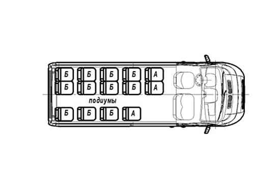 Автобус (16+6+1) FST613-101 на базе шасси FIAT Ducato Maxi Van