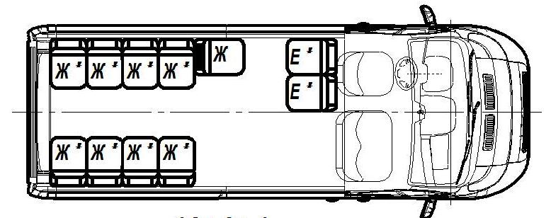 Автобус (13+0+1) FST632-100 на базе шасси FIAT Ducato Van