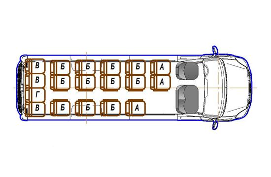 Автобус (20+0+1) 2227UR-100 на базе шасси IVECO Daily 50С15