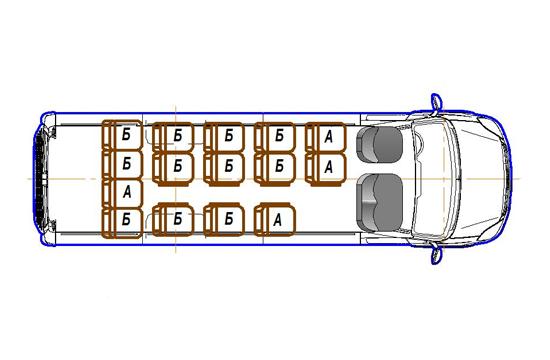 Автобус (17+0+1) 2227UR-400 на базе шасси IVECO Daily 50С15