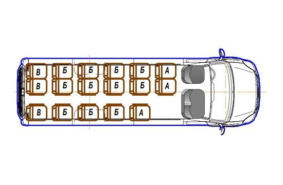 Автобус (16+0+1) 2227US-100 на базе шасси IVECO Daily 50С15
