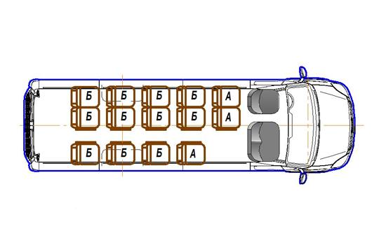 Автобус (16+0+1) 2227US-200 на базе шасси IVECO Daily 50С15