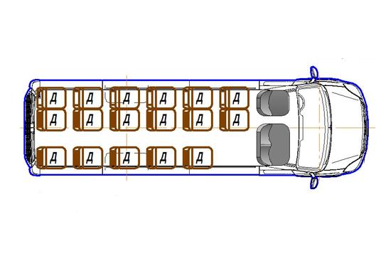 Автобус (19+3+1) 2227UT-100 на базе шасси IVECO Daily 50С15