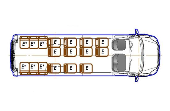 Автобус (19+7+1) 2227UT-900 на базе шасси IVECO Daily 50С15