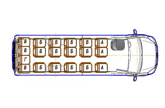 Автобус (19+0+1) 2227UU-100 на базе шасси IVECO Daily 50С15
