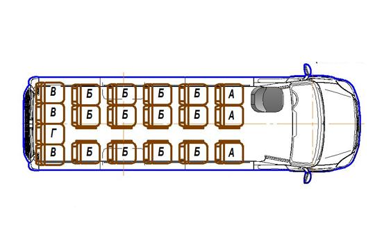 Автобус (19+0+1) 2227UU-200 на базе шасси IVECO Daily 50С15