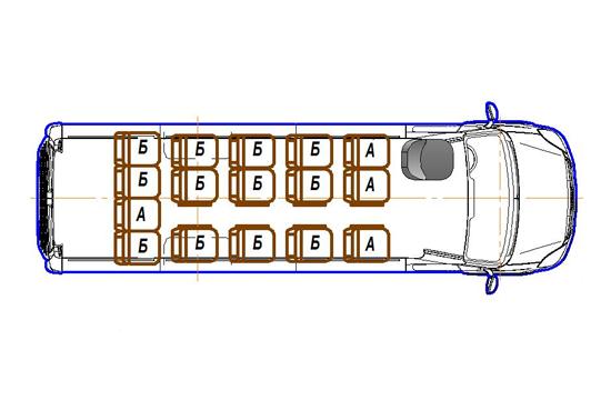 Автобус (16+0+1) 2227UU-400 на базе шасси IVECO Daily 50С15