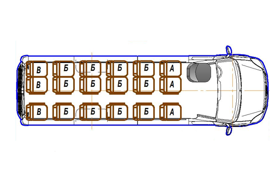 Автобус (18+0+1) 2227UU-500 на базе шасси IVECO Daily 50С15