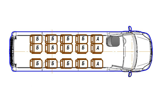 Автобус (15+0+1) 2227UU-600 на базе шасси IVECO Daily 50С15