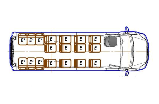 Автобус (18+8+1) 2227UU-902 на базе шасси IVECO Daily 50С15