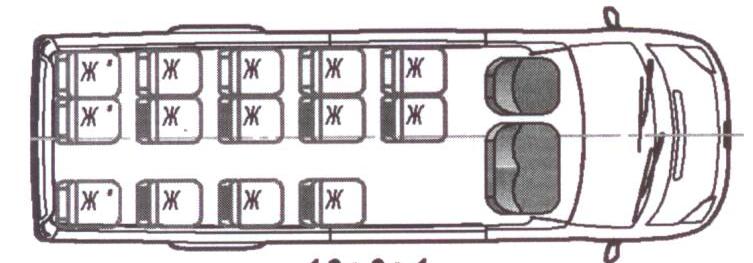Автобус (16+6+1) 222708-200 на базе шасси Ford Transit (Форд Транзит)