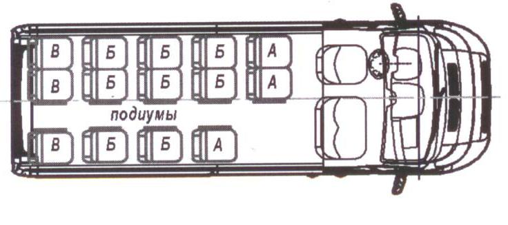 Автобус (16+6+1) 2227SK-200 на базе шасси Peugeot Boxer (ПЕЖО Боксер)