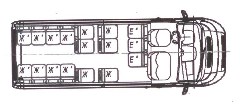 Автобус (19+3+1) 2227SK-300 на базе шасси Peugeot Boxer (ПЕЖО Боксер)
