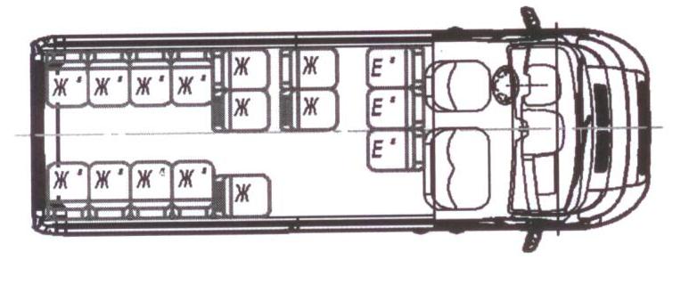 Автобус (18+4+1) 2227SK-400 на базе шасси Peugeot Boxer (ПЕЖО Боксер)