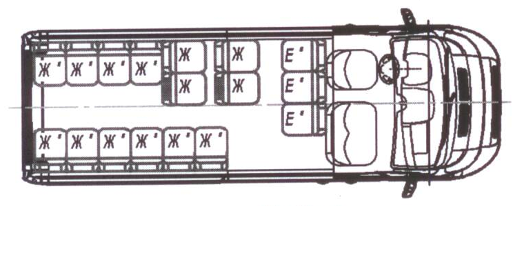 Автобус (19+3+1) 2227SK-500 на базе шасси Peugeot Boxer (ПЕЖО Боксер)