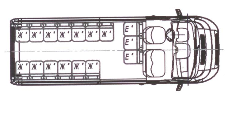 Автобус (18+4+1) 2227SK-600 на базе шасси Peugeot Boxer (ПЕЖО Боксер)