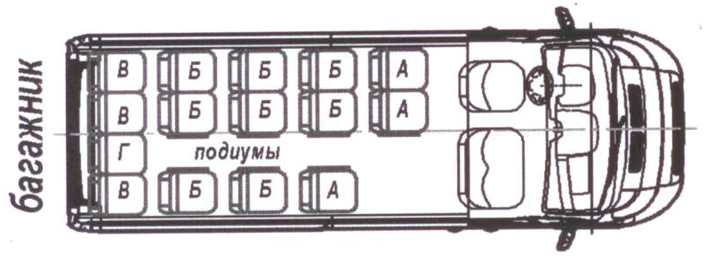Автобус (17+0+1) 2227SL-200 на базе шасси Peugeot Boxer (ПЕЖО Боксер)