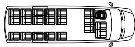 Автобус (20+7+1) 22370E на базе шасси Volkswagen Crafter 50 GP (Фольксваген Крафтер ГП 50)
