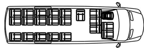 Автобус (21+6+1) 22370D на базе шасси Volkswagen Crafter 50 GP (Фольксваген Крафтер ГП 50)