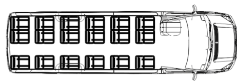 Автобус (18+0+1) 223710 на базе шасси Volkswagen Crafter 50 GP (Фльксваген Крафтер ГП 50)